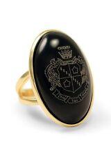 Zeta Tau Alpha Sorority Duchess Ring - 14k Gold Plated & Black Onyx- New!!!
