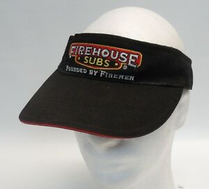 Image is loading Firehouse-Subs-Employee-Embroidered-Crew-Visor-Cap- Adjustable- d04fd5dc49cb