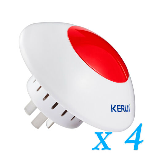 KERUI J009 110dB Wireless Flash Strobe Siren Lot for House Security Alarm System
