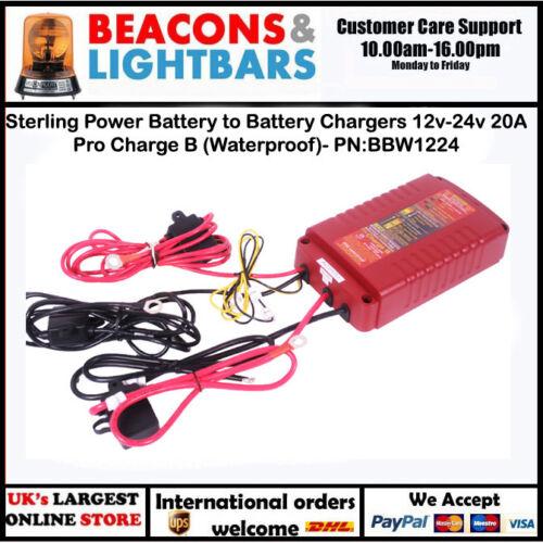 Impermeable Batería de alimentación de la libra esterlina para cargadores de batería 12v-24v 20A Pro cargo B