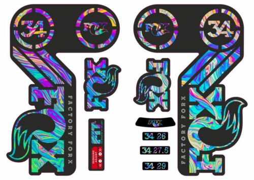 FOX 34 Heritage 2015 Fork Suspension Factory Decal Sticker Adhesive Oil Slick 1