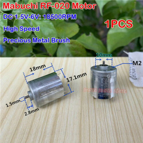 DC 1.5V-6V MABUCHI RF-020 14800 RPM High Speed mini Precious Metal-Brush Motor