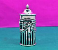 Victorian sterling silver pepper caster Regency swags W Hutton & S London 1895