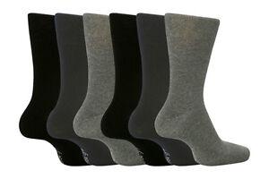 12-14 Uk 46-50 EUR 6 Pares Sockshop Hombre Bigfoot Gentle Grip Holgado Superior Calcetines Talla 12-14 GB X-Large Todo Negro