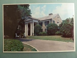 Graceland Postcard Memphis Garden /& Trees Home of Elvis Presley Tennessee