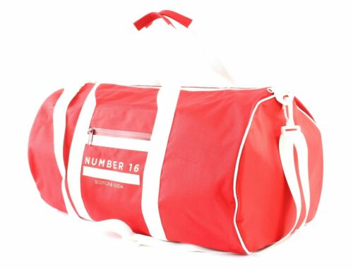 SCOTCH /& SODA Ams Blauw Off Duty Bag Sporttasche Tasche Combo B Rot Weiß Neu