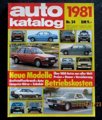 266 pagine auto-Computer-Borsa mondo A AUTO-catalogo 1981 oltre 1800 auto A