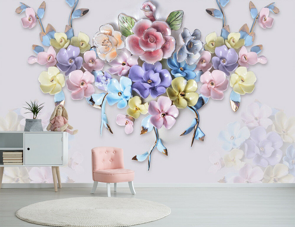 3D Beautiful Flowers 45 Wall Paper Exclusive MXY Wallpaper Mural Decal Indoor AJ