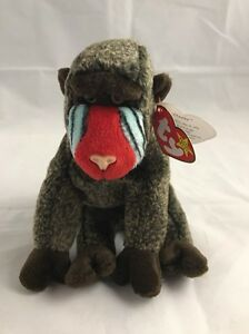 bc699fadc47 Image is loading Ty-Beanie-Babies-Baby-Cheeks-the-Baboon-Rare-