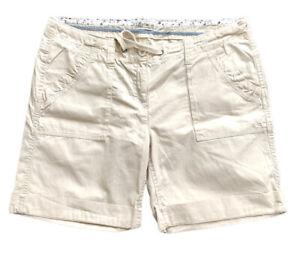 FAT-FACE-Women-039-s-Size-14-UK-Chino-Cargo-Style-Cotton-Stone-Shorts