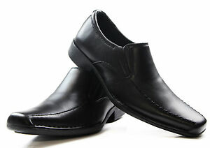 MENS-HUSH-PUPPIES-MISSION-EXTRA-WIDE-MEN-S-BLACK-LEATHER-WORK-DRESS-SHOES-6-5UK