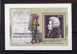 ALEMANIA-RFA-WEST-GERMANY-1991-MNH-SC-1691-Mozart-death-bicent