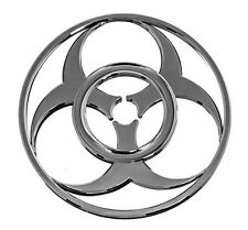 Cool 3-D Chrome Colored BIOHAZARD SYMBOL DECAL for Car Automobile Truck