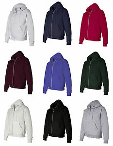 Champion Mens Size S-L XL 2XL 3XL XXL XXXL Full Zip-Up Hooded ...