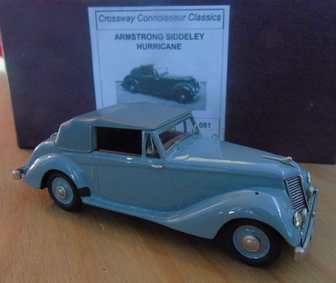 Crossway modells CCC02 Armstrong Siddeley Hurricane (grå) Closed Hood Ltd