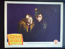 1944 THEY LIVE IN FEAR - N. MINT LOBBY CARD - WWII - NAZIS - WAR