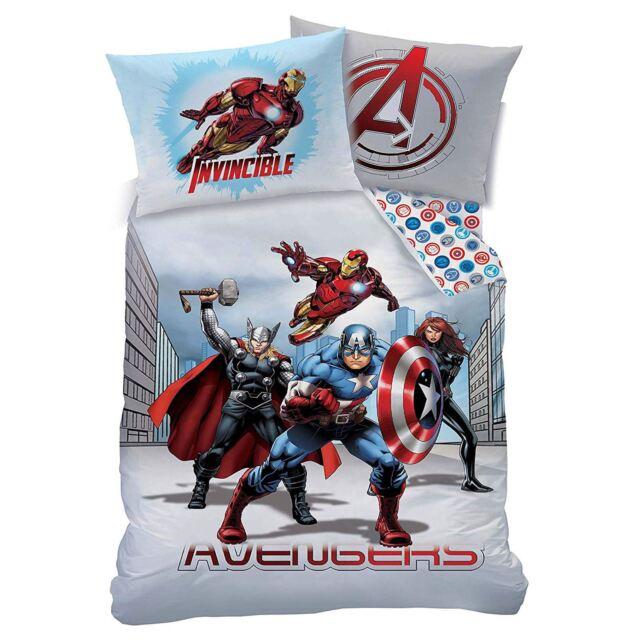 Marvel Avengers Ciudad Individual Juego Funda Edredón Reversible Cama para Niño