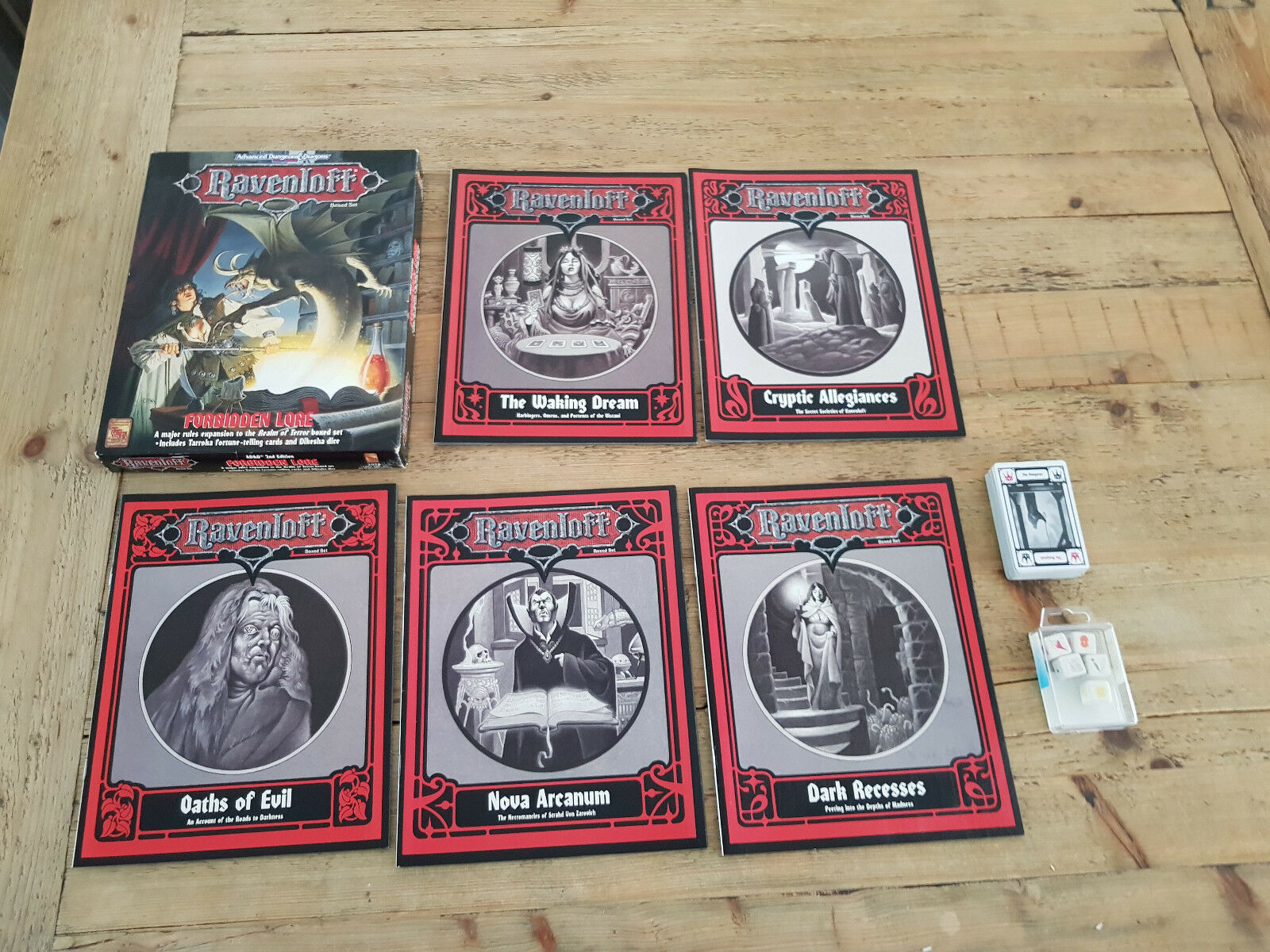 Ravenloft  verbotene lore (box - set), ad & d 2. aufl., -