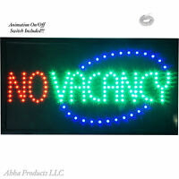 Large Animated 2in1 Vacancy No Vacancy On Off Led Open Motel Hotel Inn Sign Neon on Sale
