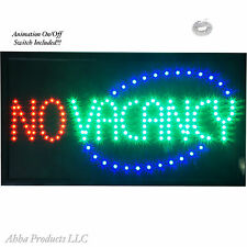 """24x13"""" Vacancy No Vacancy on off LED Open Motel Hotel Campground Inn Sign neon"""