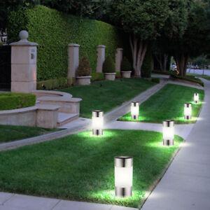 6 Er Set Led Solar Lampen Edelstahl Außen Garten Weg Beleuchtung