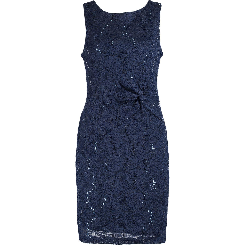 New SCARLETT Premium Womens Navy bluee Lace Side Knot Midi Dress BNWT
