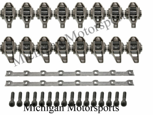 With Roller Trunion Kit Installed L99 L76 L92 6.2L LS3 Rocker Arms and Stands