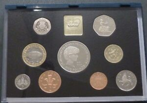 1999 UK 9-Coin Royal Mint Proof Year Set Includes Diana £5, rugby £2 rare £1+10p