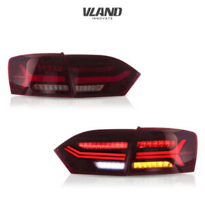VLAND Tail Light Fits For Volkswagen VW JETTA 2011-2014 Red Rear Lights Asembly
