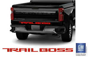3D Raised Tailgate Letters Compatible with 2019 2020 Silverado Models(Gloss Black with Red Outline) Tailgate Insert Letters