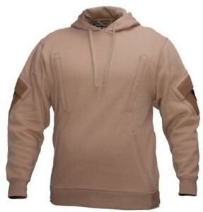 Tactical-Recon-Military-Fleece-Hoodie-Army-Combat-Pull-Over-Hoody-Tan-New