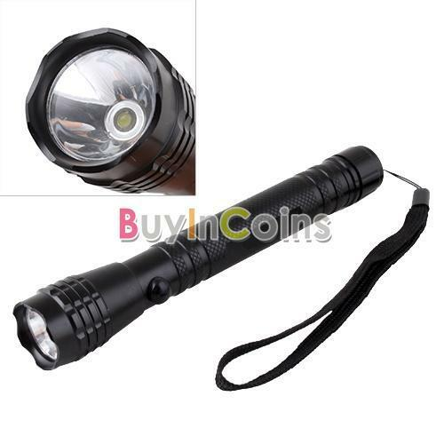 Super Bright 3W LED 2 AA Outdoor Camping Flashlight Torch Light Lamp Hand Strap