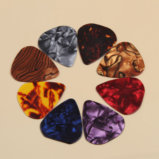 10pcs Multicolor Celluloid Acoustic Electric Guitar Picks Plectrums Thin 0.46mm
