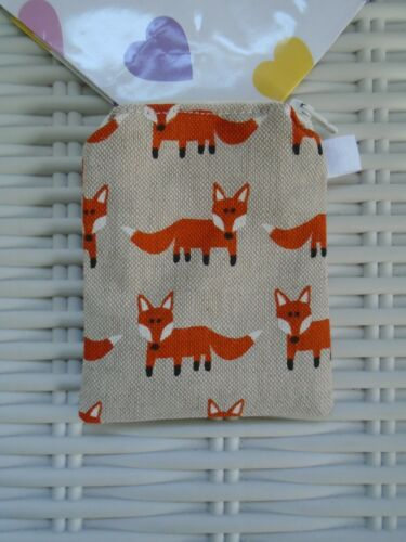 FOX PURSE PURSES FOXES COUNTRYSIDE WILDLIFE URBAN GIFT IDEA HAND MADE IN UK NEW