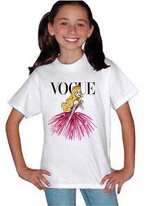 Disney Princess Sleeping Beauty Vogue Top T-shirt Unisex Kids Boys Girls 827