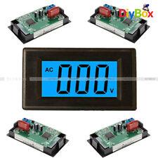 Digital Voltmeter Panel 2 Or 4 Wire Ac 0 500v Lcd Alternating Voltage Meter Blue