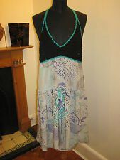 MISSONI silk & CROCHET tea DRESS 8-10 RP£550 NEW boho party flapper made Italy