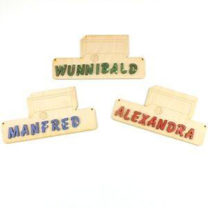 Turschild Kinderzimmer Eigener Name Buchstaben 18cm Holz Fussball