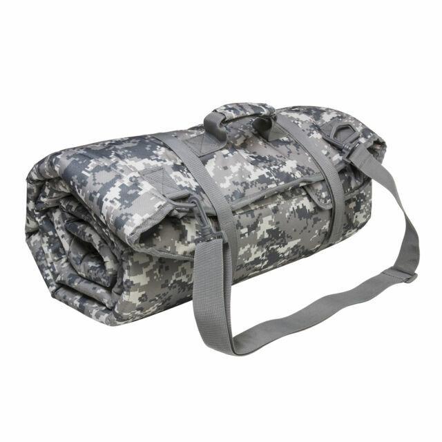 "VISM Rifle Case MOLLE Shooting Mat TAN 66/""x11/""x1.75/"" w// 2 Removable Pouches"