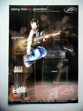 PUBLICITE-ADVERTISING :  Guitare/Ampli PEAVEY Generation EXP  12/2005