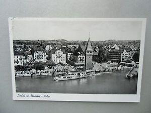 Ansichtskarte-Lindau-am-Bodensee-Hafen-1955