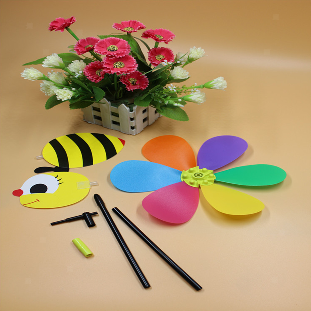 Rainbow Plastic Windmill Set for Kids Toy Party Decor
