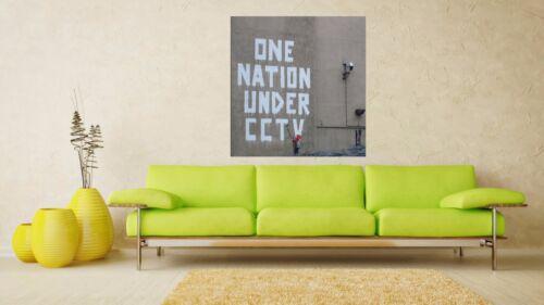 Banksy Street Art One Nation Under CCTV Poster  A0-A1-A2-A3-A4-A5-A6-MAXI 032