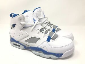 c77b991b40804f Nike Air Jordan Flight Club 91 Bball GS White Blue Wolf Grey 555472 ...