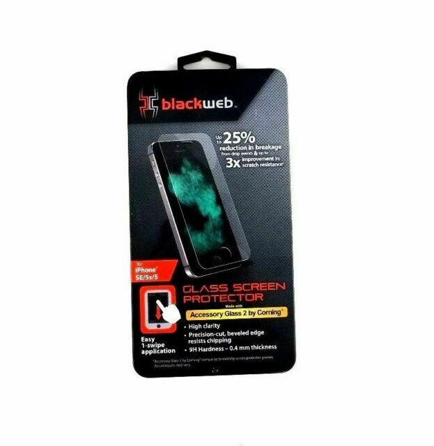 Made with Accessory Glass 2 Blackweb Glass Screen Protector for iPhone 7