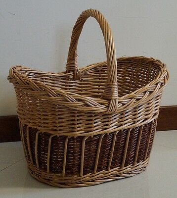 Wicker Willow Picnic Shoping Hamper Basket beautiful HAND MADE Large