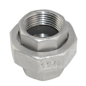 """1//4/""""NPT Malleable Straight Union Coulping Pipe Fitting Stainless Steel SS304 F//F"""