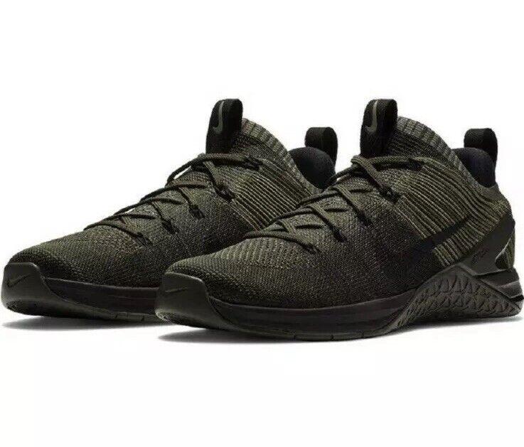Nike Metcon DSX Flyknit 2 Size 12 Training Dark Stucco Black 924423 008