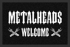 Rockbites-Doormat-034-Metalheads-Welcome-034-Black-White-Nr-168-100822-Doormat