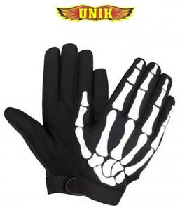 Mens Cycling Motorcycle Racing Skeleton Skull Bone Mechanic Sports Warm Gloves
